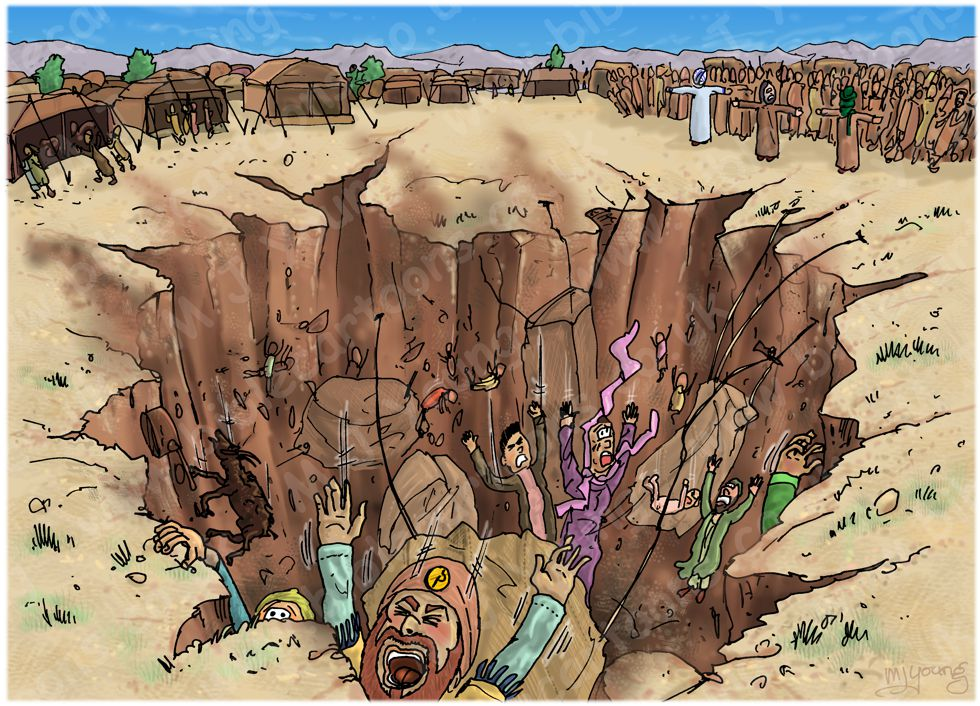 The earth swallowed up Korach's followers because they rebelled against God