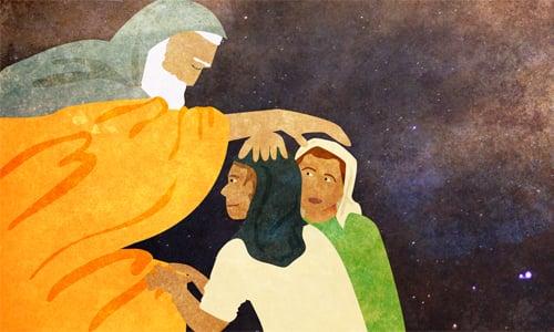 Jacob blesses the sons of Joseph